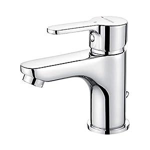 GRIFEMA Porto –  Mezclador monomando lavado con función de ahorro de agua, Grifo de baño, Cromo