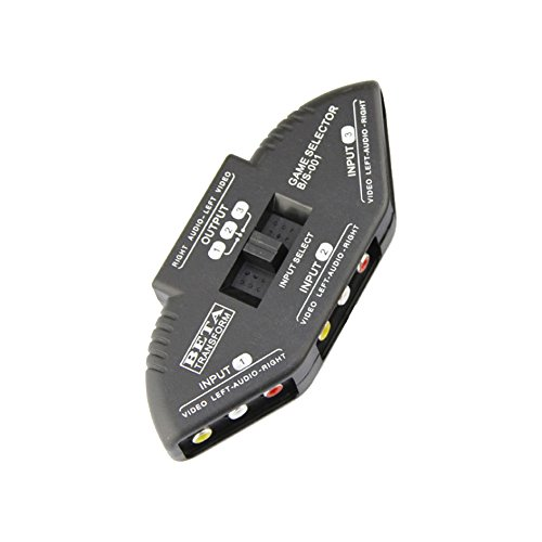 3 en 1 Salida Conmutador de Señal de Audio Vídeo Selector de Divisor Caja de Interruptores AV RCA Color al Azar