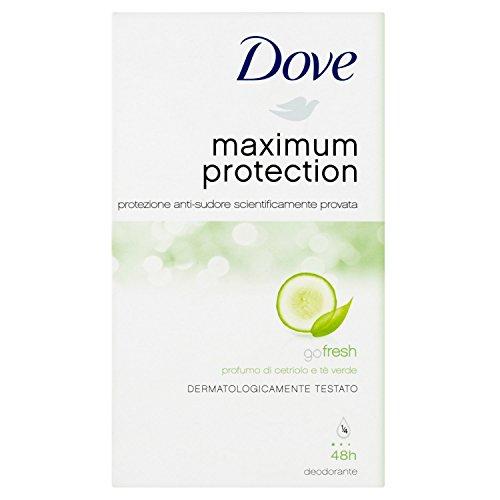 Dove maximalen Schutz Go Fresh Cucumber und Grün Tee Antitranspirant Deo Creme–45ml, 3Stück