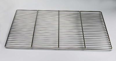 Edelstahl-Grillrost 67x40cm Qualitätsedelstahl V2A, Stäbe Ø 4mm !!!, stabile & schwere Ausführung