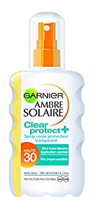 Garnier Ambre Solaire Clear Protect+ Spray Corps Transparent FPS 30 200 ml