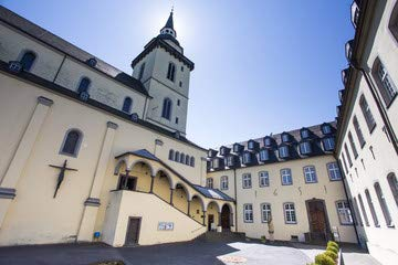 "Alu-Dibond-Bild 140 x 90 cm: ""siegburg abbey germany"", Bild auf Alu-Dibond"