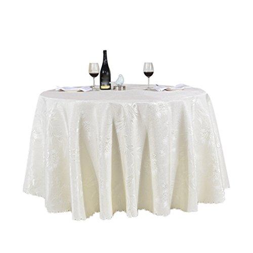 Heheja Rond Rectangulaire Carré Satin Nappe Mariage Restaurant fête Nappe Beige 300cm