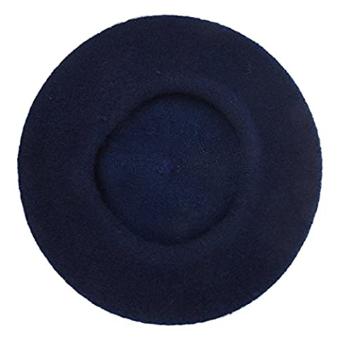 Beret-TOOGOO(R) Femmes Mode Beret Casual Bonnet Bleu Marine