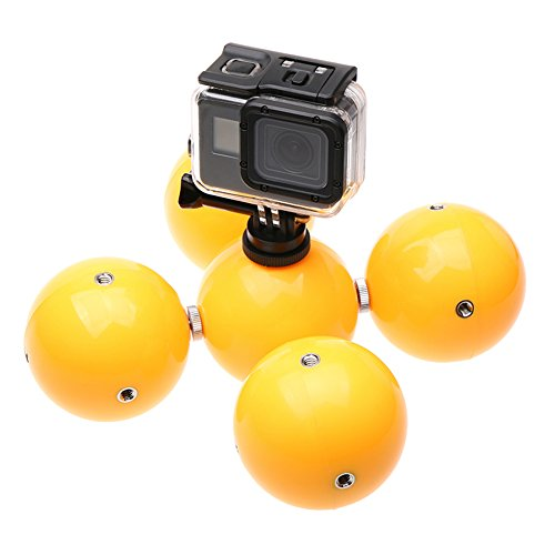 Haodasi Unterwasser Auftriebs Ball für GoPro Hero SJCAM Xiaomi Yi 2 4K Kamera, 5 in 1 Multifunktion Schnorchel Gerät Schwimmend Fotografie Buoy Ball Kamera Zubehör
