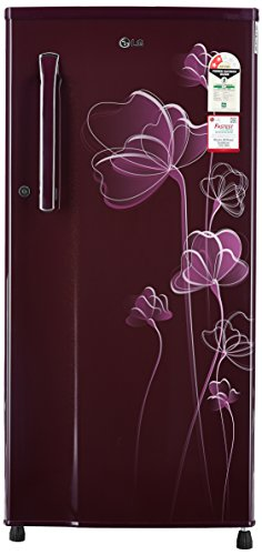LG 188 L 2 Star Direct-Cool Single-Door Refrigerator (GL-B191KSHV, Scarlet...