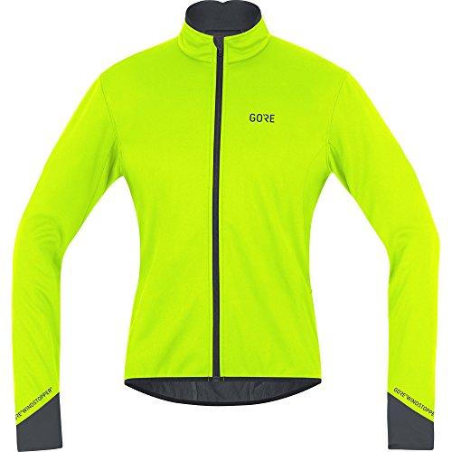 GORE Wear Winddichte Herren Fahrrad-Jacke, C5 GORE WINDSTOPPER Thermo Jacket, XXL, Neon-Gelb/Schwarz, 100364