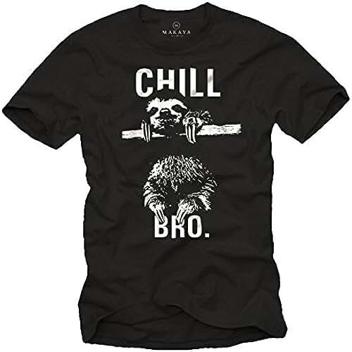 dia del orgullo friki Camisetas chulas hombre - Perezoso - CHILL BRO.