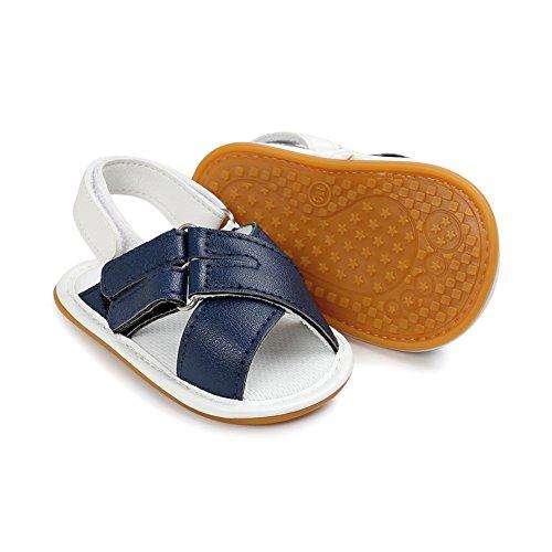 Sandales Bébé ,Chickwin bébé sandales anti-dérapant doux unique Toddler sandales Pour 6-18 mois Bébé (12-18 mois, A) D