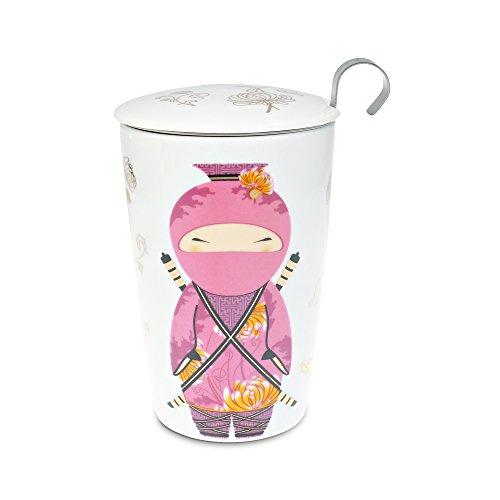Teaeve ® tasse à thé avec passoire et couvercle, little ninja \
