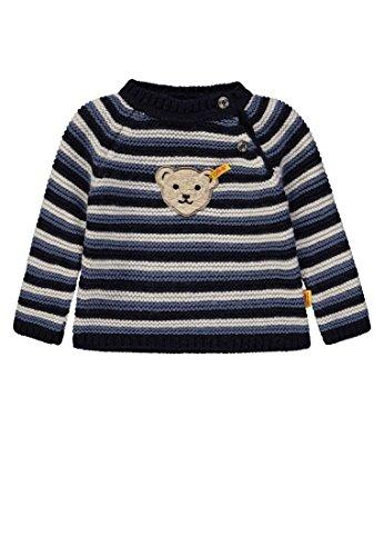 Steiff Baby - Jungen Pullover 1/1 Arm Pullover, per Pack Blau (y/d Stripe|Multicolored 0001), 62 (Herstellergröße: 62)