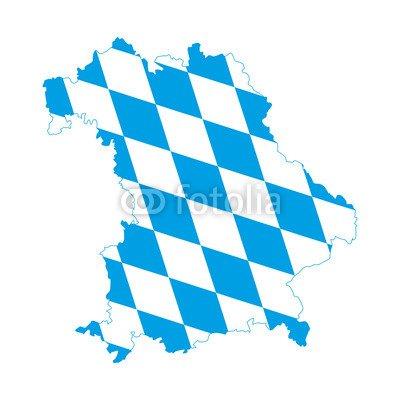 "Alu-Dibond-Bild 70 x 70 cm: ""Bayern, blau-weiß"", Bild auf Alu-Dibond"