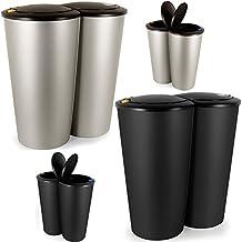Meuble poubelle tri selectif - Poubelle double compartiment ...