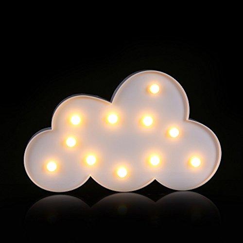 Dekorative 12-licht Kronleuchter (TWIFER Dekorative Partei LED Kinder Schlafzimmer Wolke Nacht Licht Weihnachten Dekor (Weiß))