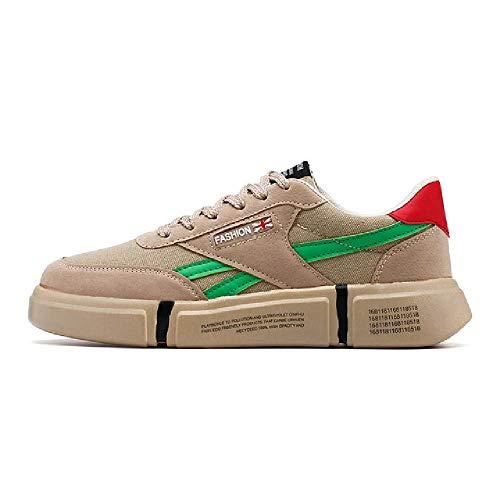 GERPY Tennisvulkanisierte Schuhe für Männer Trend weiße Schuhe leichte TurnschuheFreizeitschuhe Komfort Wohnungen männlich Sneaker -