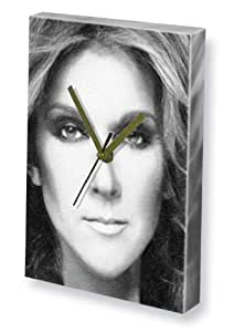 CELINE DION - Canvas Clock (A4 - Signed by the Artist) #js001 by Canvas Clocks (A4) - Music