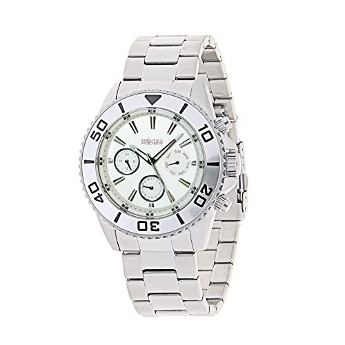 Nautec No Limit Mens Multi dial Quartz Watch with Stainless Steel Strap 129457