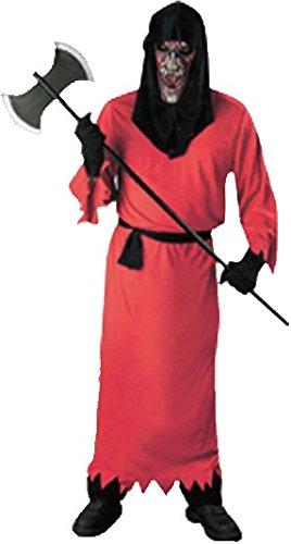 Imagen de disfraz de spectro rojo demonio adulto hombre mujer fiesta halloween talla unica