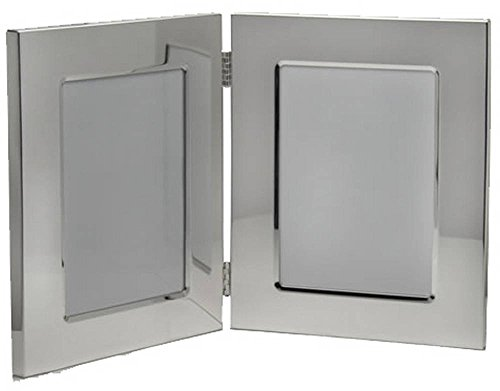 Silver Double Photo Frame 3.5x5 By David Van Hagen