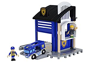 BRIO Comisaría policía Madera, Color Azul (63381300)