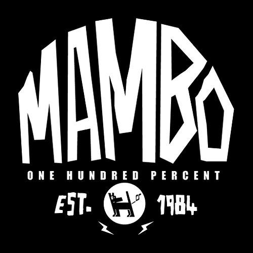 Mambo Established 1984 White Text Women's Sweatshirt Black