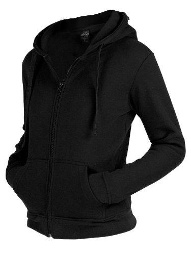 Urban Classics Damen Kapuzenpullover Ladies Zip Hoody Black