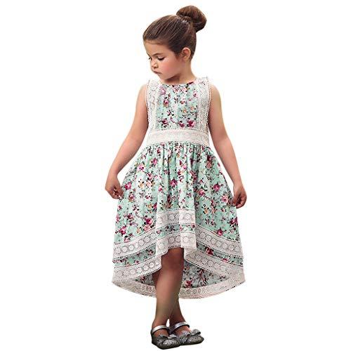 Julhold Kleinkind Kinder Baby Mädchen Oansatz Sleeveless Sommer Kleidung Blumendruck Bowknot Party Prinzessin Kleid 2019