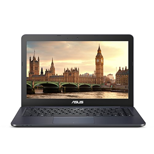 "ASUS Laptop - 14"" HD, AMD E2-6110, AMD Radeon R2 Graphics, 4GB DDR3 RAM, 32GB eMMC Flash Storage, Windows 10 S, 1 Year of Office 365 - L402WA-EH21"