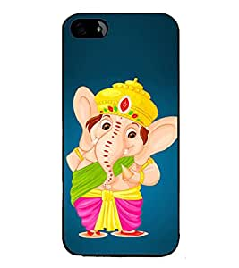 Fiobs Designer Back Case Cover for Apple iPhone 5S (God Bhagvan Temple Dress Sports Typography Spritual)