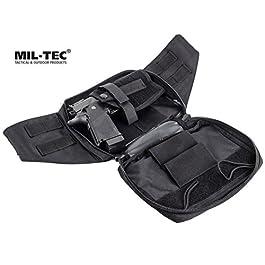 MIL-TEC Marsupio borsa fondina per pistola asportabile Beretta Glock con Penna Tattica in alluminio