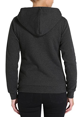 DESIRES Derby Pile - Sweat à capuche - Femme Dark Grey Melange (8288)