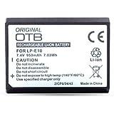 Batterie lithium-ion LP-E10 pour Canon, 950 mAh