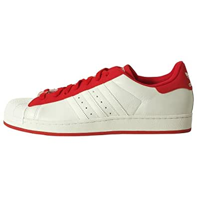adidas Originals Men's Superstar II Sneaker,White/Scarlet,11.5 M