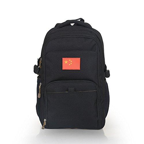 Gli studenti di mimetizzazione pack outdoor alpinismo Borse viaggio borse tracolla zaino 48*32*14cm, Lupo Brown Nero