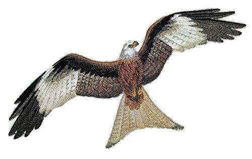 BeyondVision Erstaunlich Vögel Reich bestickte Eisen Nähen Patches 9.5 x6.8 grau, schwarz, weiß, grün, rot (Mockingbird Patch)