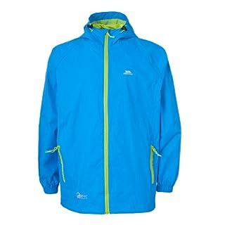 Trespass Qikpac Jacket, Cobalt, 11/12, Compact Packaway Waterproof Jacket Kids Unisex, Age 11-12, Blue