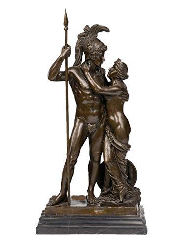Toperkin Mars and Venus Bronze Statue TPY-118 Aphrodite Skulptur Metal Dekor Myth Figuren