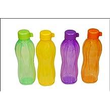 Tupperware Eco Aquasafe 500ml jugo pequeño, botellas de agua juego de 04 (100%