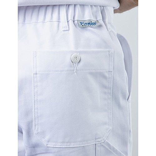 PIONIER WORKWEAR Herren Bundhose Cotton Pure in marineblau (Art.-Nr. 9391) Weiß