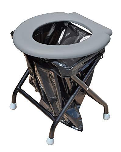 faltbare toilette Yachticon Klapptoilette grau
