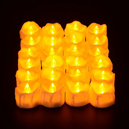 PChero 12-Pack Tea Lights de LED con Mando (Amarillo)