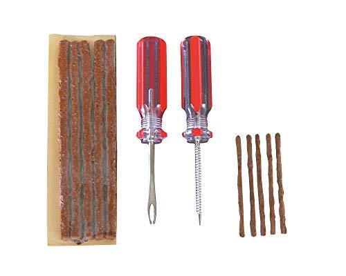 Maxalami Maxi Tubeless Reparatur-Set (Einführ- und Reinigungswerkzeug, je 5 x Flickwurst Ø 3,5 mm + Ø 1,5 mm)