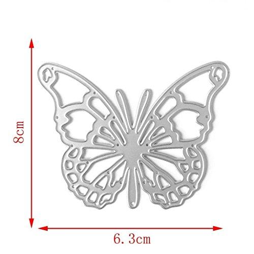 Hemore Metall-Stanzschablonen-Set für handgefertigte Bastelarbeiten, Scrapbooking, Papier, Karten, Bastelarbeiten - hohler Schmetterling