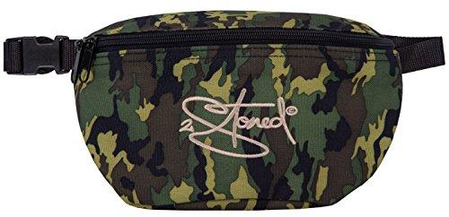2stoned Hüfttasche Bauchtasche mit Stick Classic Logo in Camouflage für Herren und Jungen (Tasche Gürtel Schuhe)