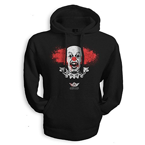net-shirts PENNYWISE BLOODY Hoodie Kapuzenpullover Sweater Pennywise Dancing Clown inspired by IT es , Größe XL, Schwarz (Pennywise Hoodie)