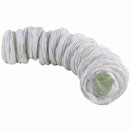Abluftschlauch Gewebe für Ablufthauben und Wäschetrockner 127mm Durchmesser 6 Meter lang weiß -