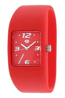 Marea Nineteen B35501/32 - Reloj de mujer de cuarzo, correa de silicona color rojo