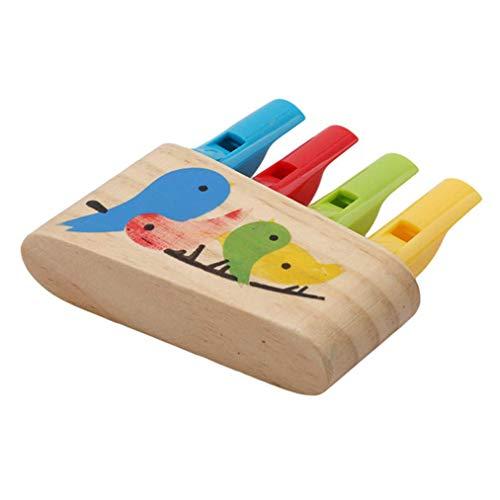 Vektenxi Panflöte Außenposten Holzpfeife Vögel Pfeifen Flöte Frühe Pädagogische Musikinstrument Baby Spielzeug für Kinder Geschenk Bequem Und Praktisch