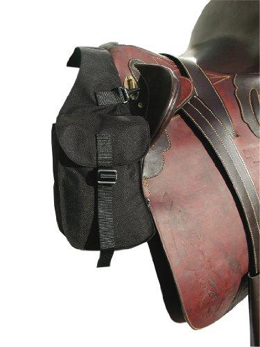 AMKA Packtasche vorne | Vorderpacktasche | Satteltasche für Pferde | Sattelpacktasche schwarz klein