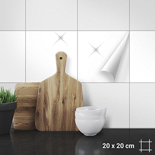 Wandkings Fliesenaufkleber für Küche und Badezimmer, 20 x 20 cm, 50 Stück - Farbe wählbar